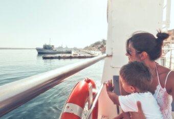 Om bord på færgerne